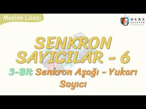SENKRON SAYICILAR- 6 / 3 BİT SENKRON AŞAĞI - YUKARI SAYICI