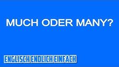 Much oder Many auf Deutsch erklärt