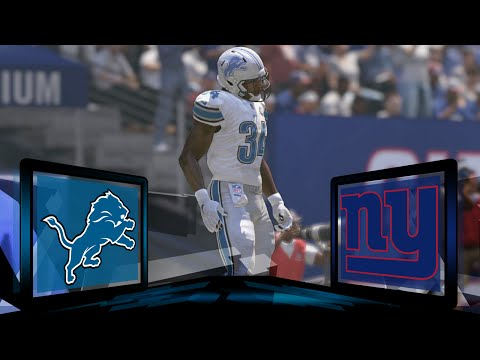 Madden NFL 17 Detroit Lions Franchise- Year 1 Game 14 at New York Giants