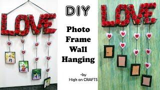 Love wall Hanging + Photo frame | hand made gift idea| cardboard craft ideas | #art&craftideas screenshot 1