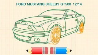 How to design car - Ford Mustang shelby GT500 car design