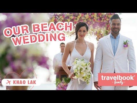 Our Beach Wedding, Maya in Thai costume, Orphanage Visit ❤ Khao Lak, Thailand