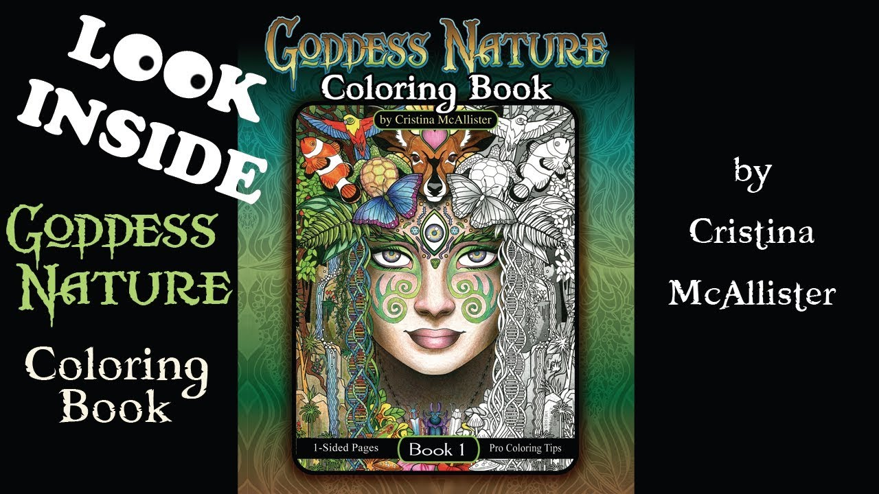 A Look Inside: Goddess Nature Coloring Book by Cristina McAllister