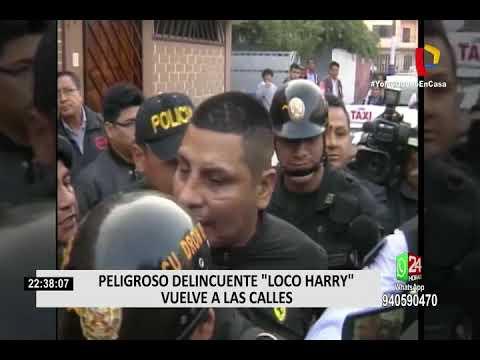 """Peligroso delincuente """"Loco Harry"""" vuelve a las calles"""