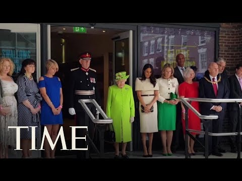 Meghan Markle And Queen Elizabeth Make A Giggly Dynamic Duo At Her First Solo Outing | TIME