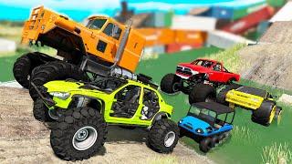 Monster Trucks Mud Battle #2 - Beamng drive