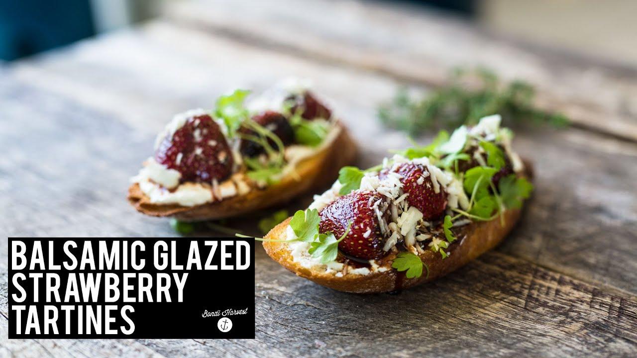 How to make Balsamic Glaze Strawberry Tartine - YouTube