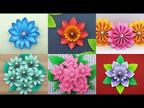 Best 6 Easy Paper Flowers Tutorial – DIY Paper Flower Crafts