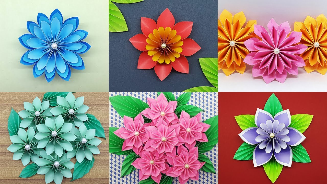 best 6 easy paper flowers tutorial