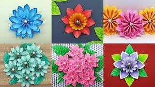 Best 6 Easy Paper Flowers Tutorial - DIY Paper Flower Crafts