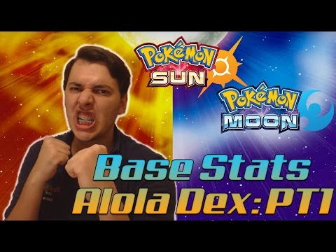 Pokémon Sun & Pokémon Moon NEWS - VAZOU TUDO! Base Stats dos Pokémon de Alola: Parte 1!