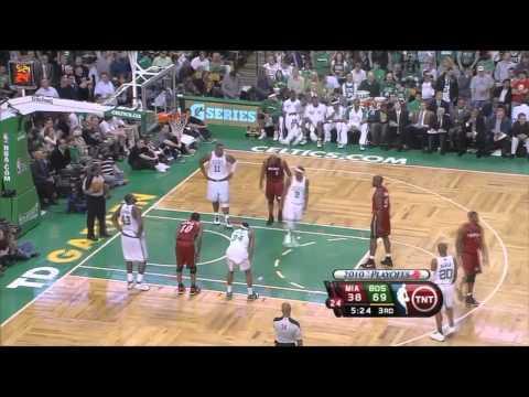 Ray Allen 7 threes vs Heat 2010 Playoffs