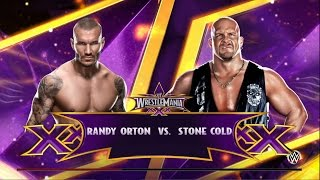 WWE 2K15 Stone Cold Steve Austin VS Randy Orton