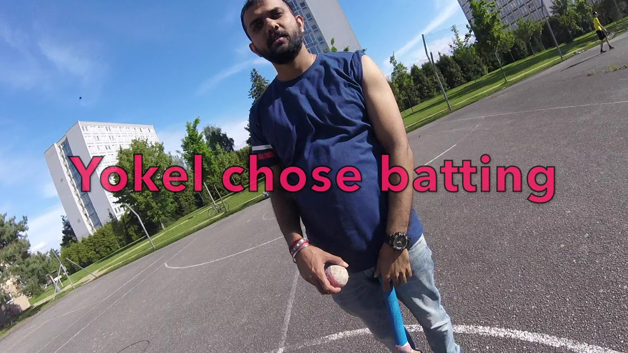 Street Cricket Delhi Gangster vs Slavic Yokel GoPro street cricket
