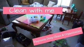Playroom deep clean and organization | Clean with me