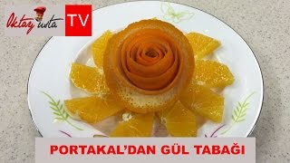 Oktay Usta portakal'dan gül tabağı yapımı