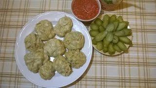 Как приготовить правильные  МАНТЫ ручной лепки  - вкусные и не сложные. Рецепт узбекской кухни