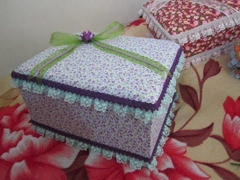Cajas decoradas con tela doovi - Cajas de carton decoradas ...