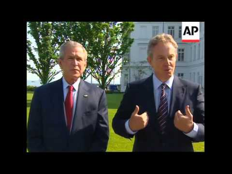 Bush, Blair comment after bilateral meeting; Bush on Darfur