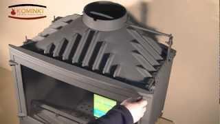 Wkład kominkowy Uniflam Selenic 700 z szybrem i dolotem powietrza