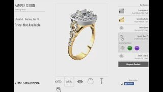 RhinoGold Halo Engagement Ring Cloud