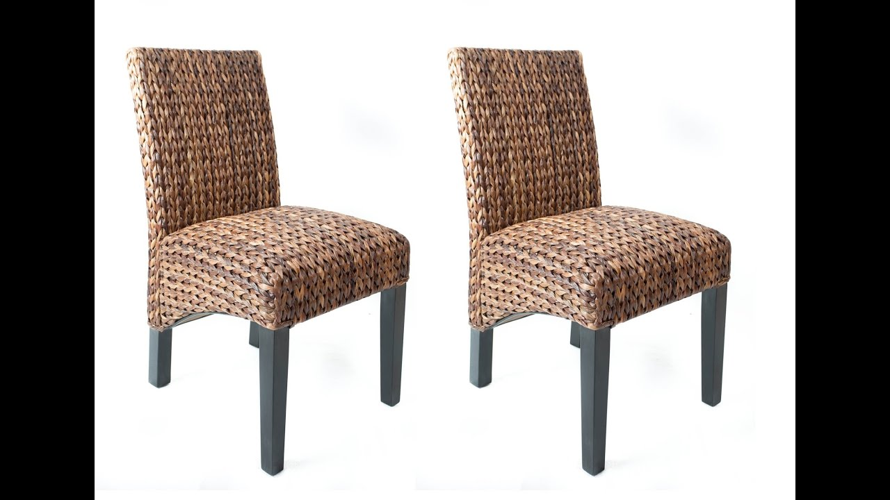 Seagrass Dining Chairs For Unique Dining Room - YouTube