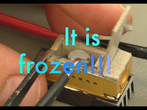 Worlds smallest working fridge making worlds smallest ice cube (PWJ96)