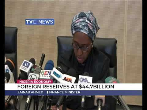 Foreign reserves at $44.7b