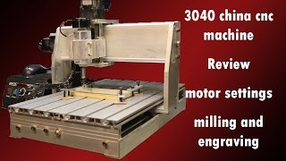 3040 China CNC | Review | motor settings | milling and engraving