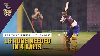 16 runs needed in 4 balls - Can Russell do it? | Dre vs Spinners KKR IPL 2021