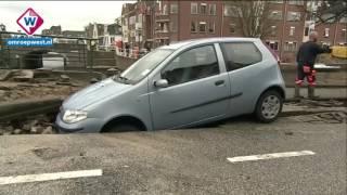 Grote schade door wateroverlast Leiden