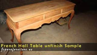 ANTIQUE FRENCH HALL TABLE SAMPLE UNFINISH FOR IMPORTER FROM AUSTRALIA