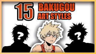 ✨EPIC: Art Style CHALLENGE🎨😍Bakugou version - Speedpaint/Drawing