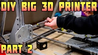 DIY Big 3D Printer - Assembling a Frame - Part 2/3