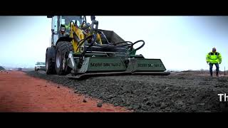 Stehr plate compactor in highway construction