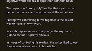 Oxymoron word in sentence with pronunciation