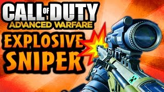 COD Advanced Warfare: EXPLOSIVE SNIPER! NA 45 Exploding Bullets Weapon (Call of Duty AW)