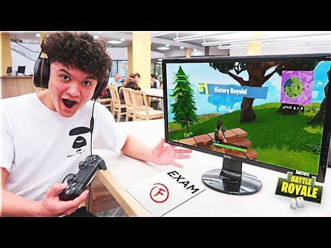 15 Year Old Kid Wins Game Of Fortnite During School Exam