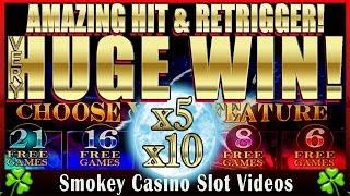 Insane HUGE Win! TIMBERWOLF SLOT MACHINE - With Amazing Retrigger!