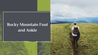 Feet Slowing you down - Rocky Mountain Foot & Ankle