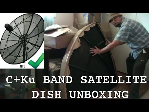 C+Ku BAND SATELLITE DISH UNBOXING