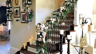 How To Create Spectacular Christmas Staircase Garland - Preview Video