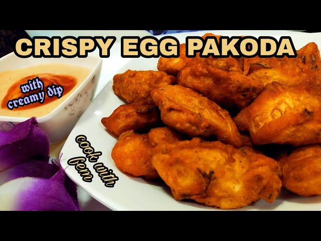 Crispy Egg Pakoda With Creamy Dip | Best Egg Snack Recipe In Hindi With English Subs | Cook With Fem
