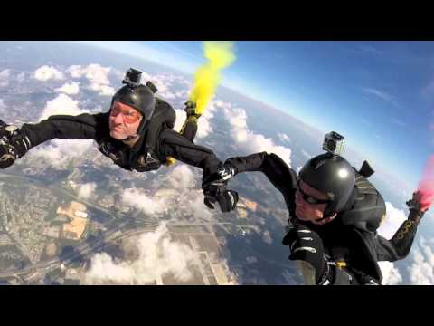 USSOCOM Parachute Demonstration Team jump at Andrews AFB Air Show 2015