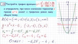 Демо ОГЭ по математике, задача 23
