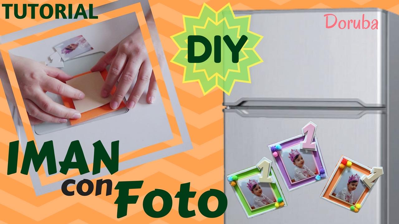 Como hacer un IMAN para la NEVERA con FOTO -- DIY -- Manualidad muy ...