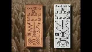 Crop Circle - Dot and line image - Alien face and binary text
