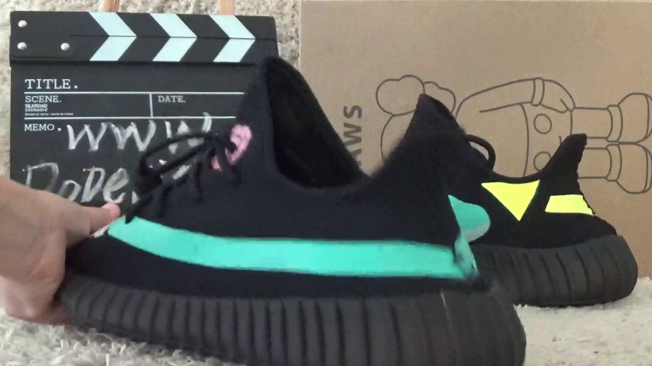 1ed61c23e9e18 Authentic Kaws x Adidas Yeezy 350 Boost V2 Review from Dopekickz23 ...