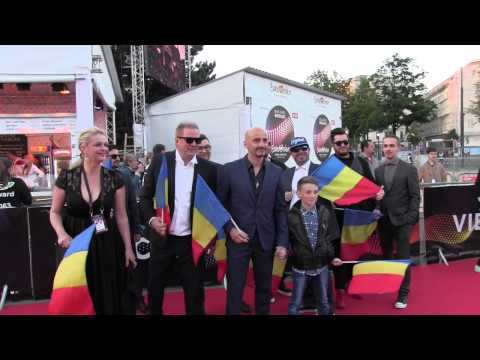 ESCKAZ in Vienna: Voltaj (Romania) on Red Carpet