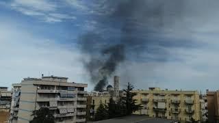 In fiamme la palazzina delle suore della ex Casa Divina Provvidenza